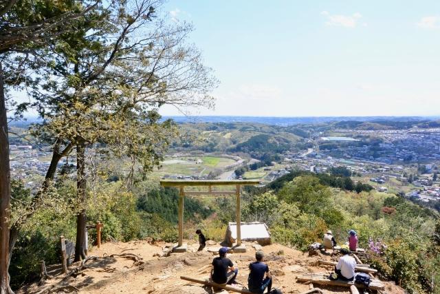 日和田山(埼玉県日高市)からの眺め