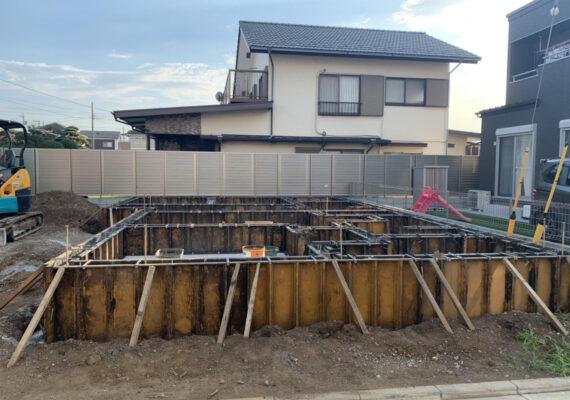 モデル棟基礎工事始まりました🥳🏠